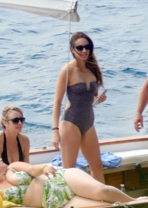 Ashley Benson, Shay Mitchell and Troian Bellisario on a boat in Capri -37