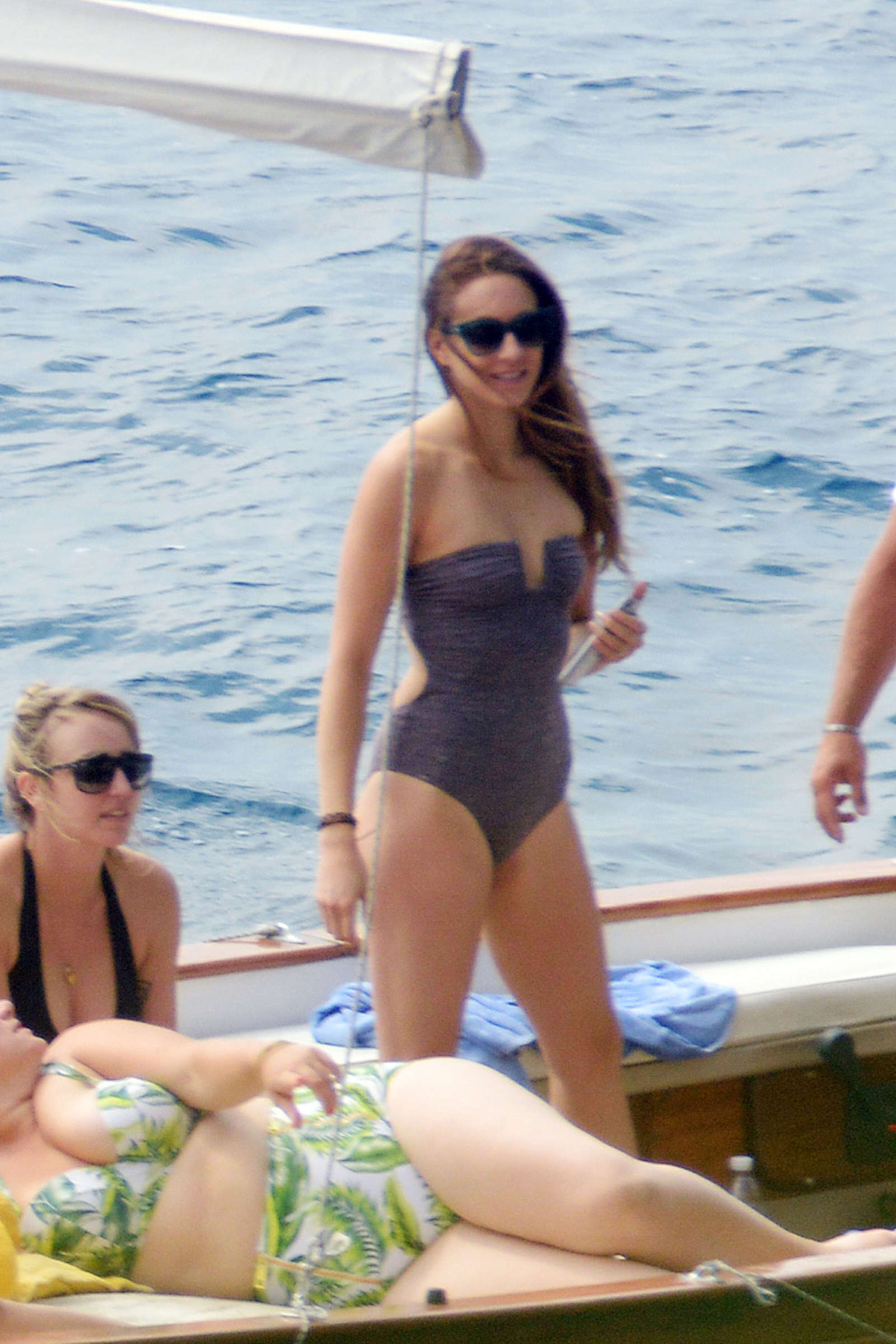 Ashley Benson, Shay Mitchell and Troian Bellisario on a boat in Capri -37