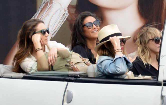 Ashley Benson, Shay Mitchell and Troian Bellisario on a boat in Capri -38