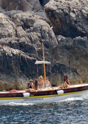 Ashley Benson, Shay Mitchell and Troian Bellisario on a boat in Capri -39