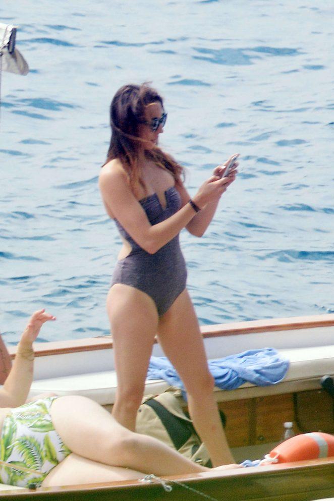Ashley Benson, Shay Mitchell and Troian Bellisario on a boat in Capri -40