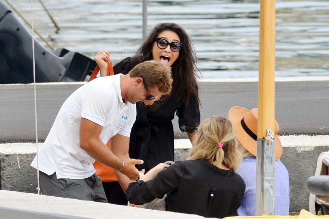 Ashley Benson, Shay Mitchell and Troian Bellisario on a boat in Capri -41