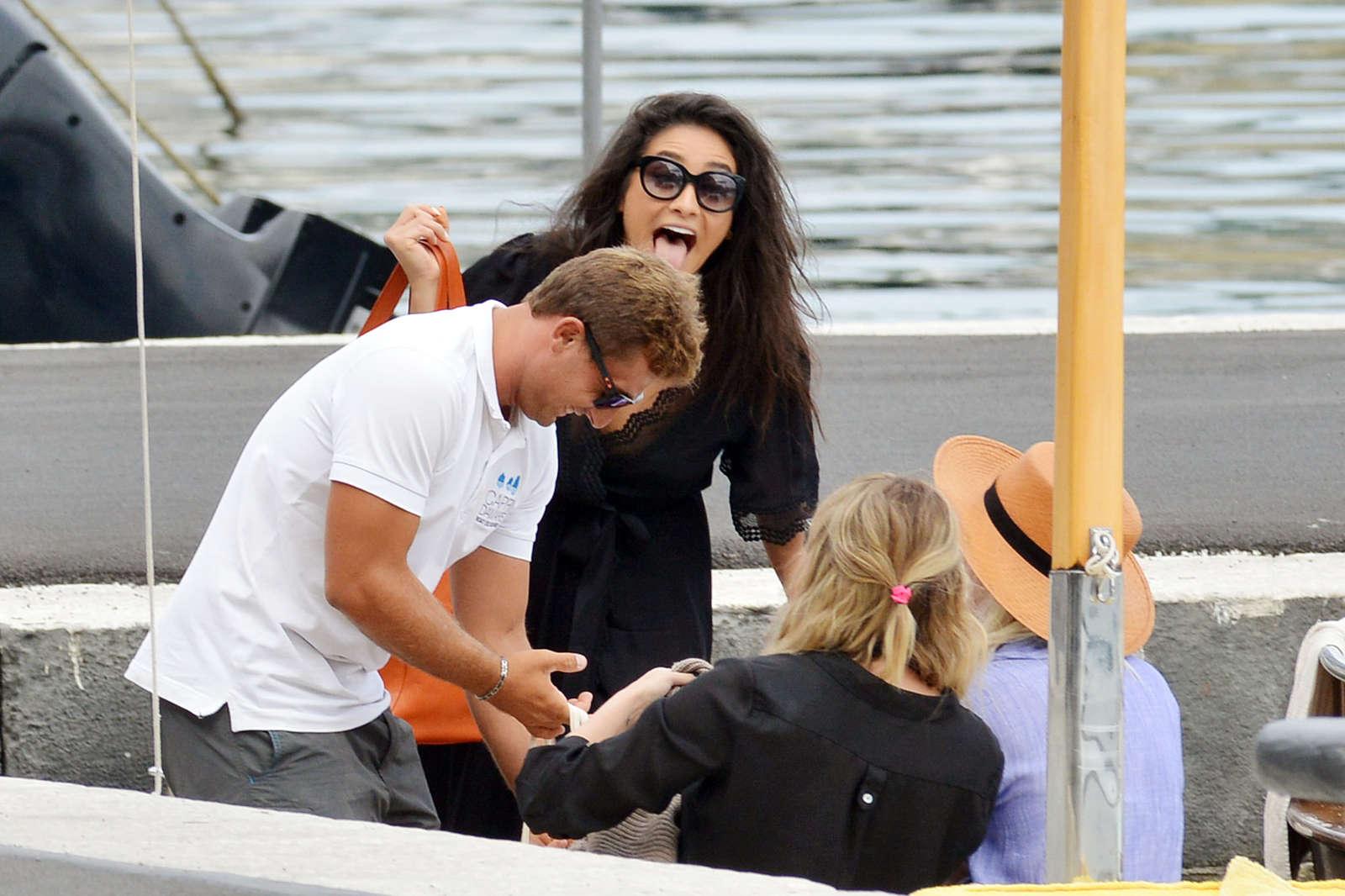 Ashley Benson 2016 : Ashley Benson, Shay Mitchell and Troian Bellisario on a boat in Capri -41