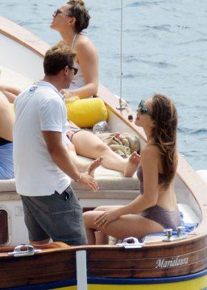 Ashley Benson, Shay Mitchell and Troian Bellisario on a boat in Capri -44