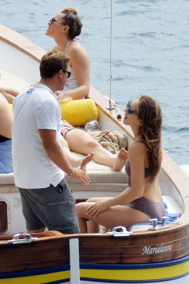 Ashley Benson, Shay Mitchell and Troian Bellisario on a boat in Capri -44