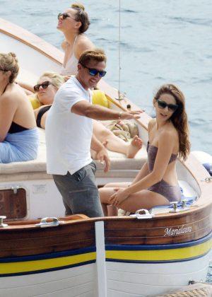 Ashley Benson, Shay Mitchell and Troian Bellisario on a boat in Capri -45