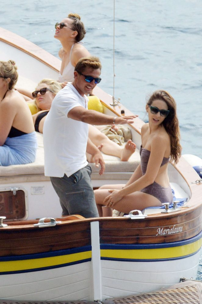 Ashley Benson, Shay Mitchell and Troian Bellisario on a boat in Capri -45