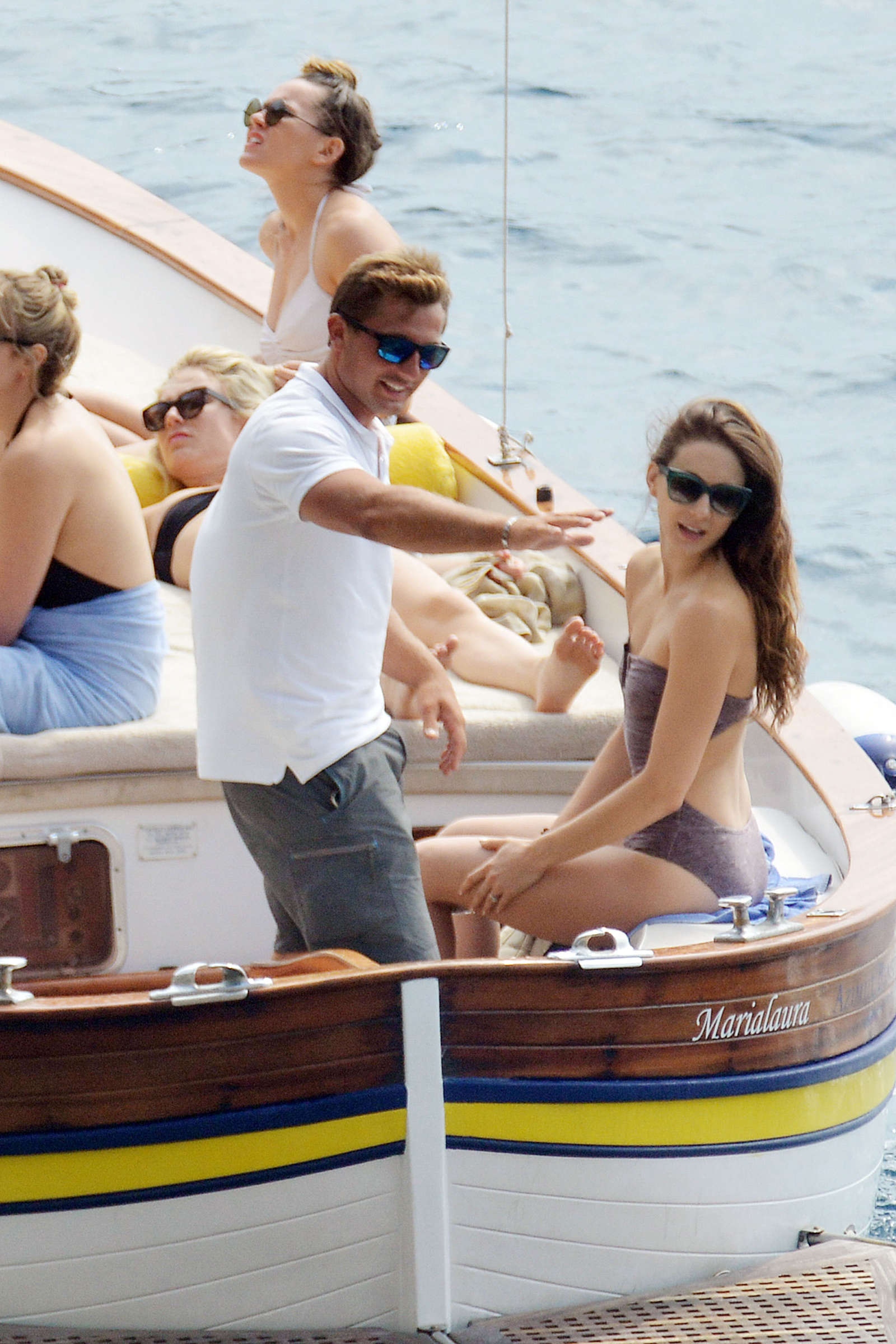 Ashley Benson 2016 : Ashley Benson, Shay Mitchell and Troian Bellisario on a boat in Capri -45