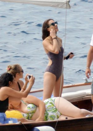 Ashley Benson, Shay Mitchell and Troian Bellisario on a boat in Capri -47