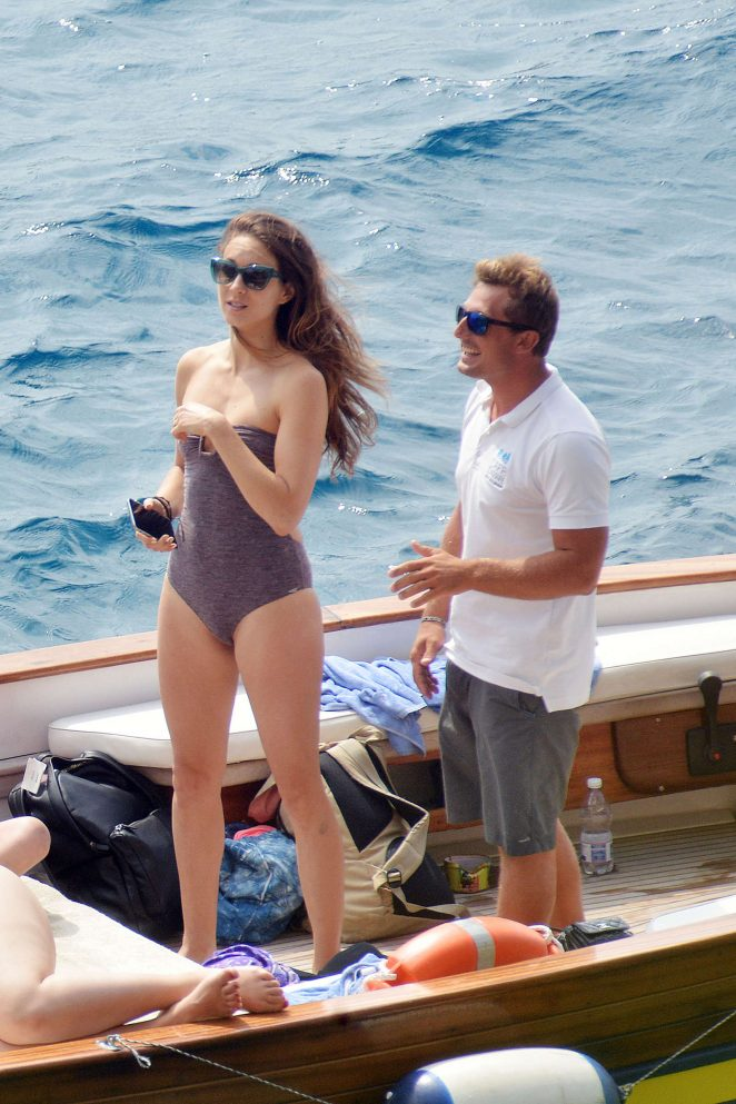 Ashley Benson, Shay Mitchell and Troian Bellisario on a boat in Capri -48