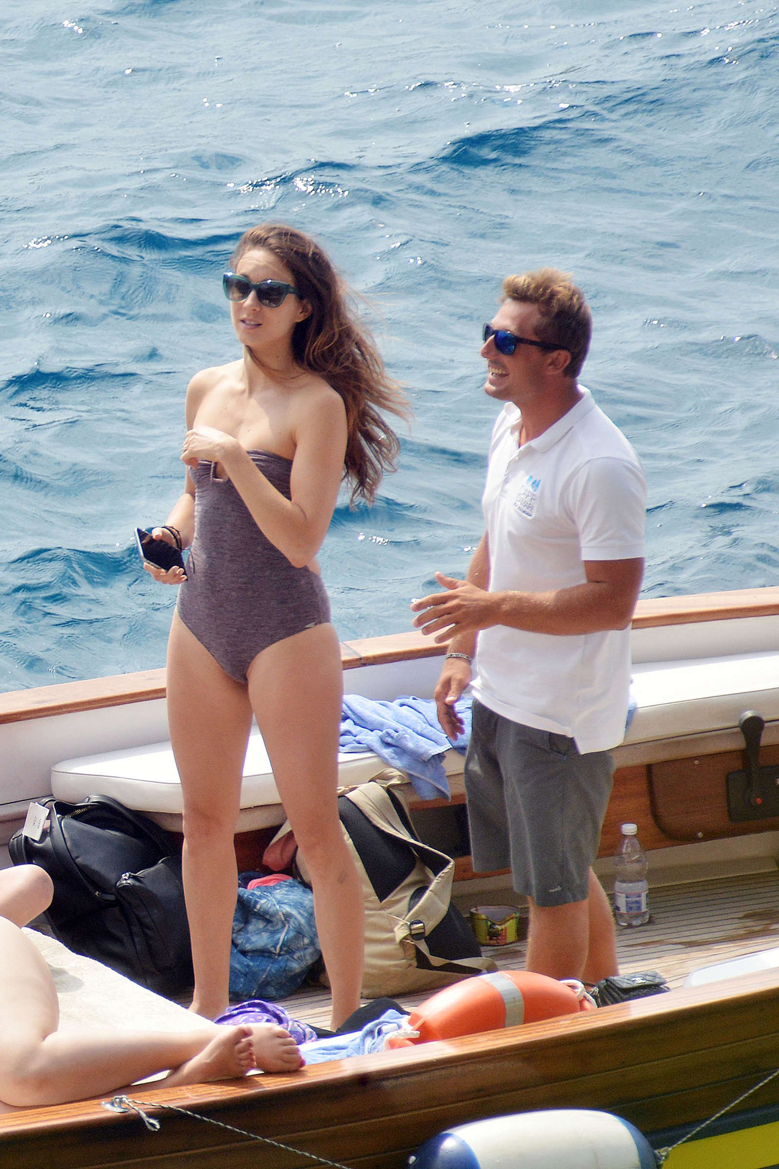 Ashley Benson 2016 : Ashley Benson, Shay Mitchell and Troian Bellisario on a boat in Capri -48