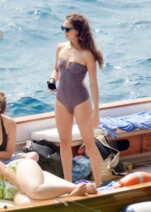 Ashley Benson, Shay Mitchell and Troian Bellisario on a boat in Capri -49
