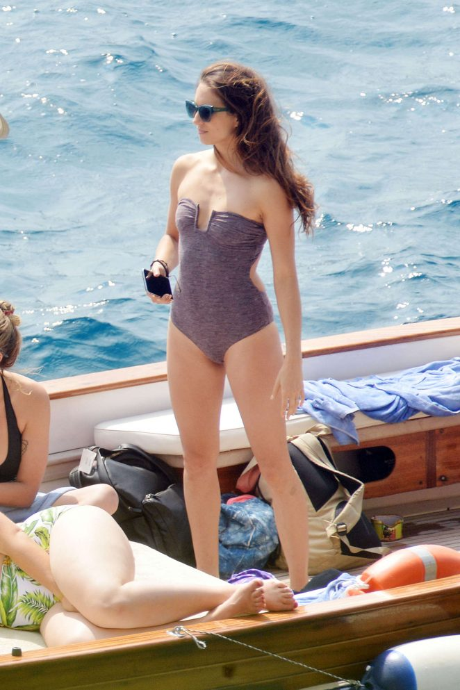 Ashley Benson, Shay Mitchell and Troian Bellisario on a boat in Capri -49