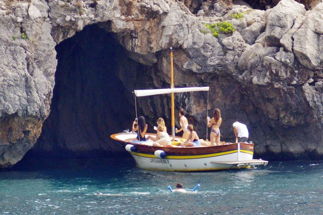 Ashley Benson, Shay Mitchell and Troian Bellisario on a boat in Capri -50