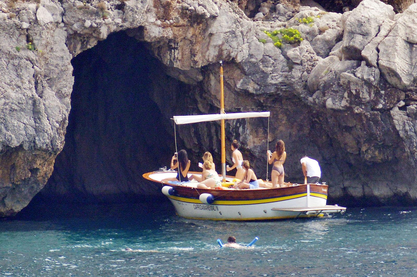 Ashley Benson 2016 : Ashley Benson, Shay Mitchell and Troian Bellisario on a boat in Capri -50