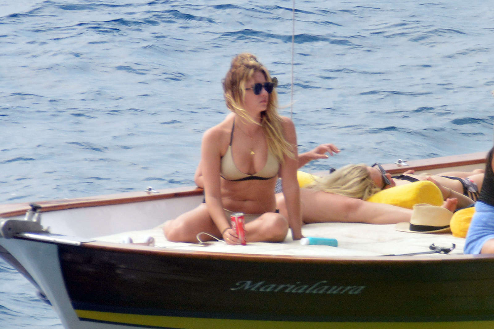 Ashley Benson 2016 : Ashley Benson, Shay Mitchell and Troian Bellisario on a boat in Capri -52