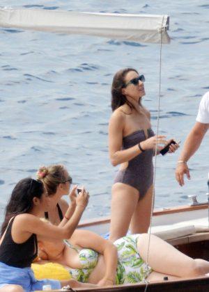 Ashley Benson, Shay Mitchell and Troian Bellisario on a boat in Capri -53