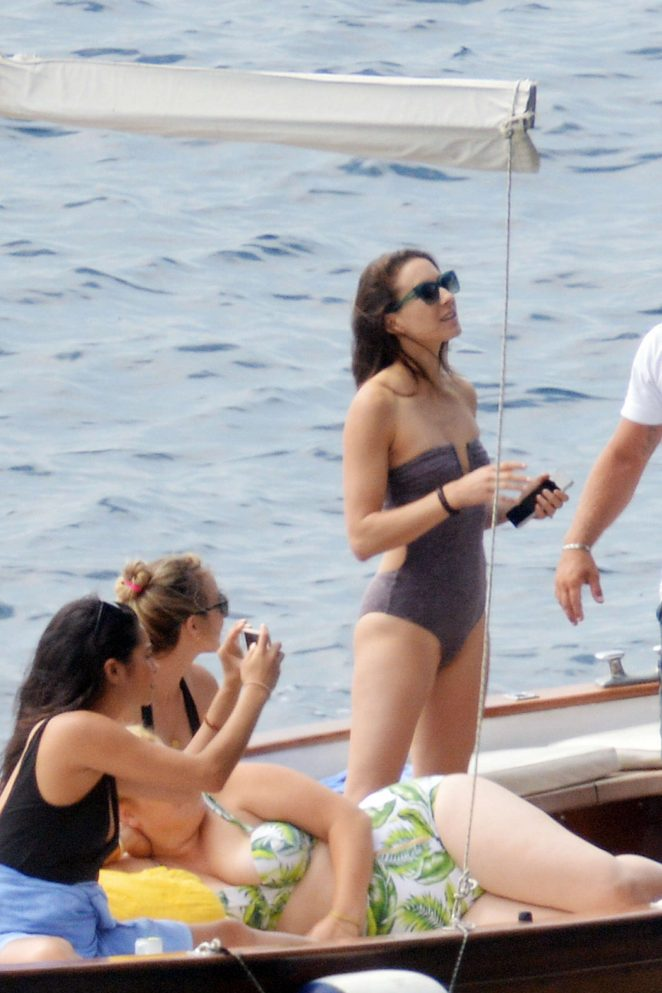 Ashley Benson, Shay Mitchell and Troian Bellisario on a boat in Capri -53