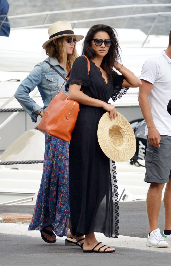 Ashley Benson, Shay Mitchell and Troian Bellisario on a boat in Capri -55