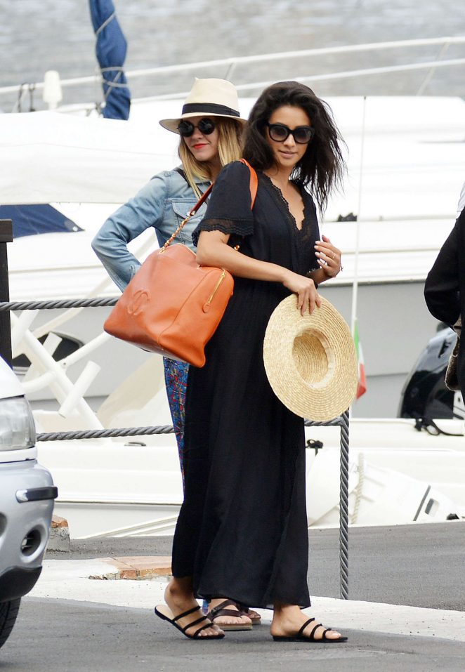 Ashley Benson, Shay Mitchell and Troian Bellisario on a boat in Capri -56
