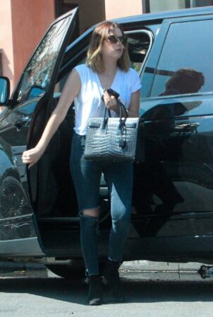 Ashley Benson - Shopping at Boohoo on Melrose Place in West Hollywood