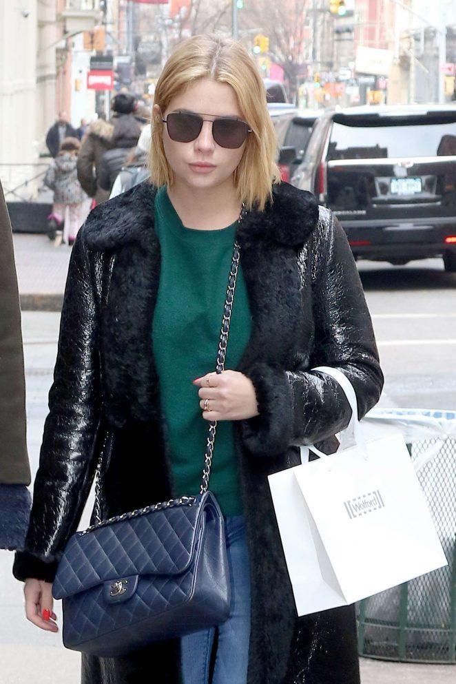 Ashley Benson shopping in New York