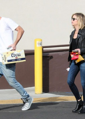 Ashley Benson - Super Bowl beer run in LA