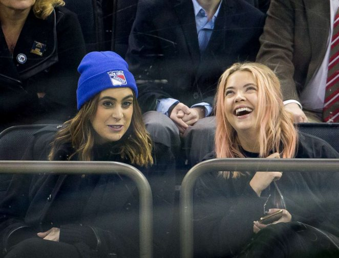 Ashley Benson - Toronto Maple Leafs Vs. New York Rangers Game in NY