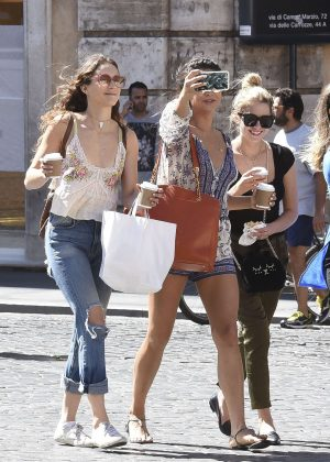 Ashley Benson, Troian Bellisario and Shay Mitchell Out in Rome