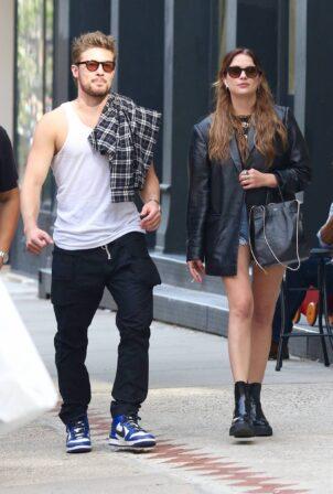 Ashley Benson - walking with a mystery guy in Manhattan's Soho area