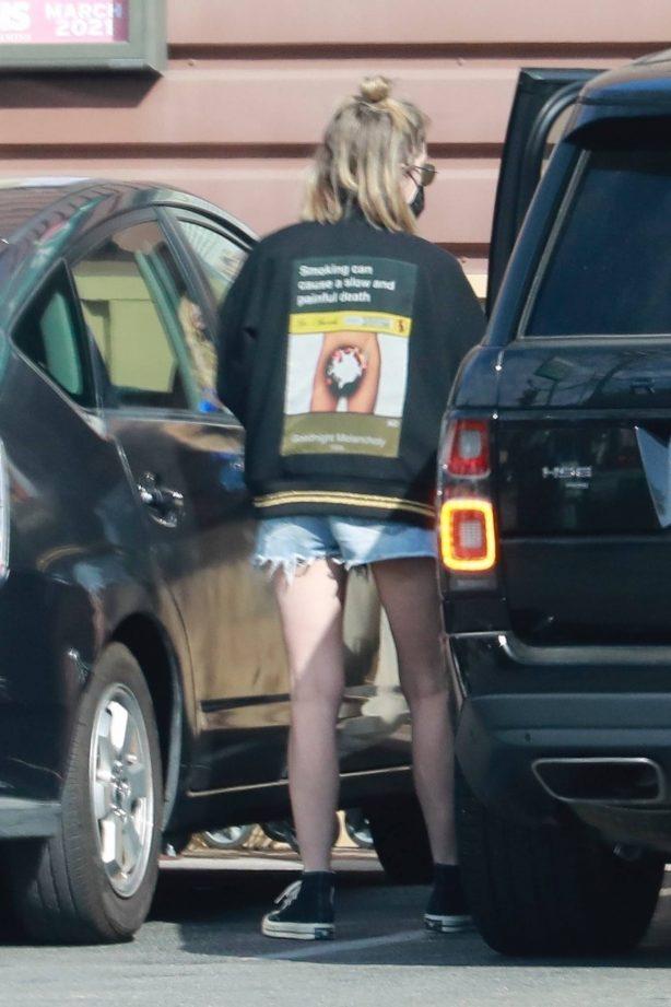 Ashley Benson - Wear daisy dukes while out in Los Feliz