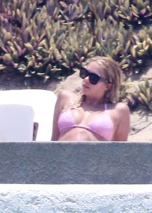 Ashley Benson in Pink Bikini in Mexico