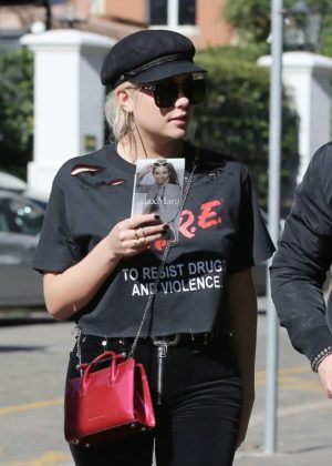 Ashley Benson - While walking out in Milan