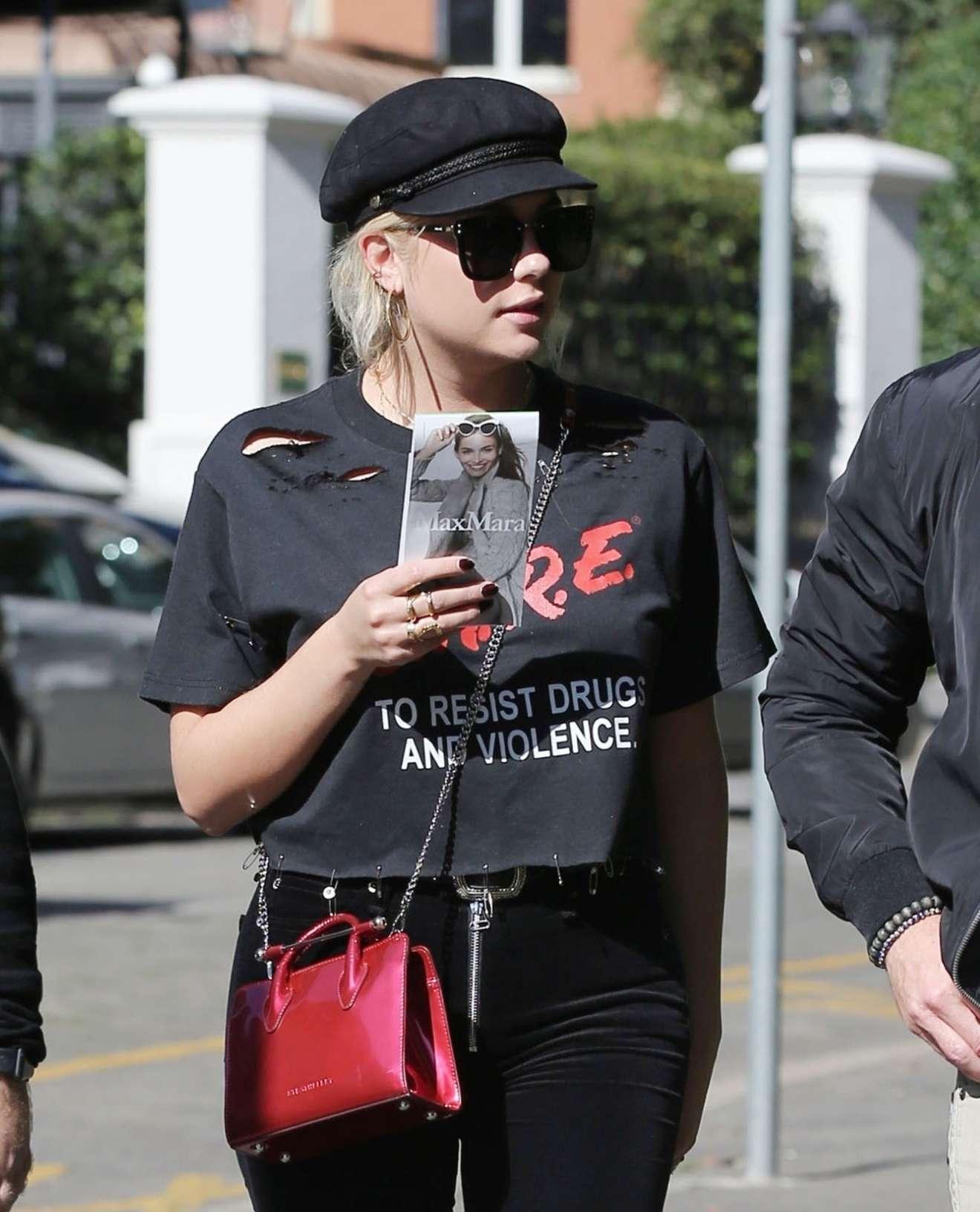Ashley Benson - While walking out in Milan
