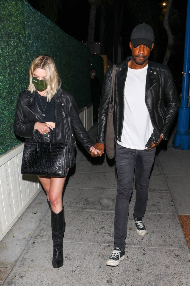 Ashley Benson - With a mystery man in Los Angeles