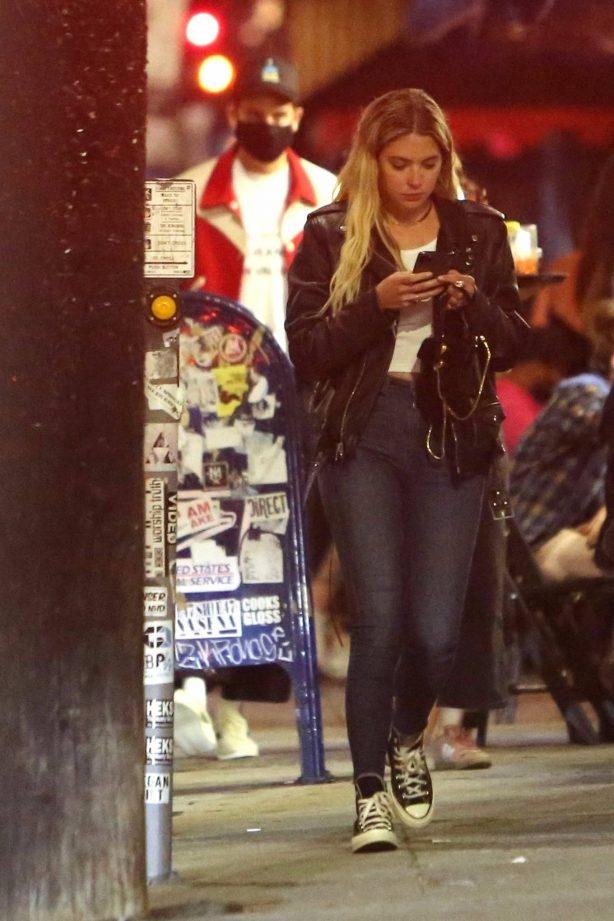Ashley Benson with boyfriend G-Eazy having a dinner in Los Feliz