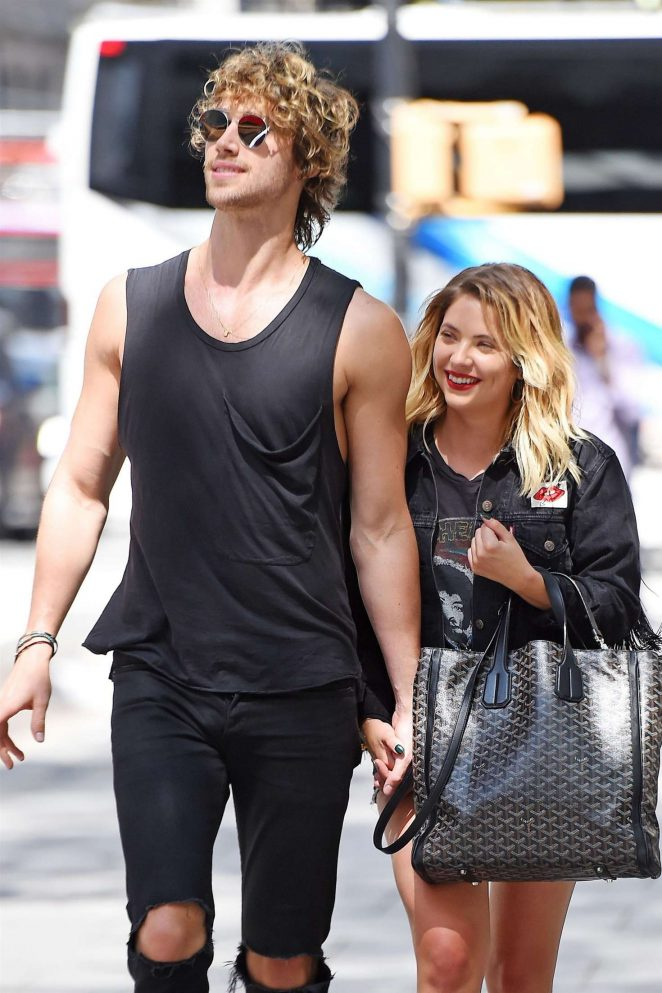 Ashley Benson with boyfriend out in NYC
