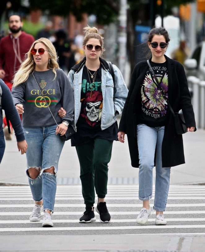 Ashley Benson with friends out in New York City