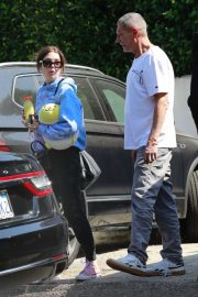 Ashley Benson with her father in LA