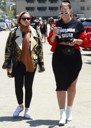 Ashley Graham and Noor Tagouri - Arrive to Cash and Rocket Charity Event in Malibu