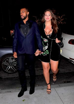 Ashley Graham - Arrived to Joe Jonas and Sophie Turner's Engagement party in NYC