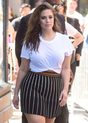 Ashley Graham at AOL Build in New York City