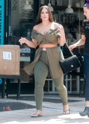 Ashley Graham at Cafe Gratitude in Los Angeles