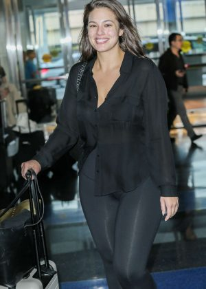 Ashley Graham at JFK Airport in New York City