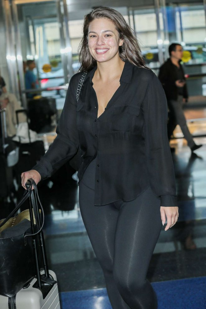 Ashley Graham at JFK Airport in New York City