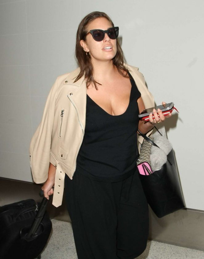 Ashley Graham at LAX Airport in Los Angeles
