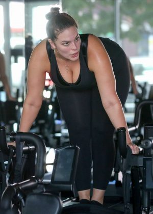 Ashley Graham at the gym in Los Angeles
