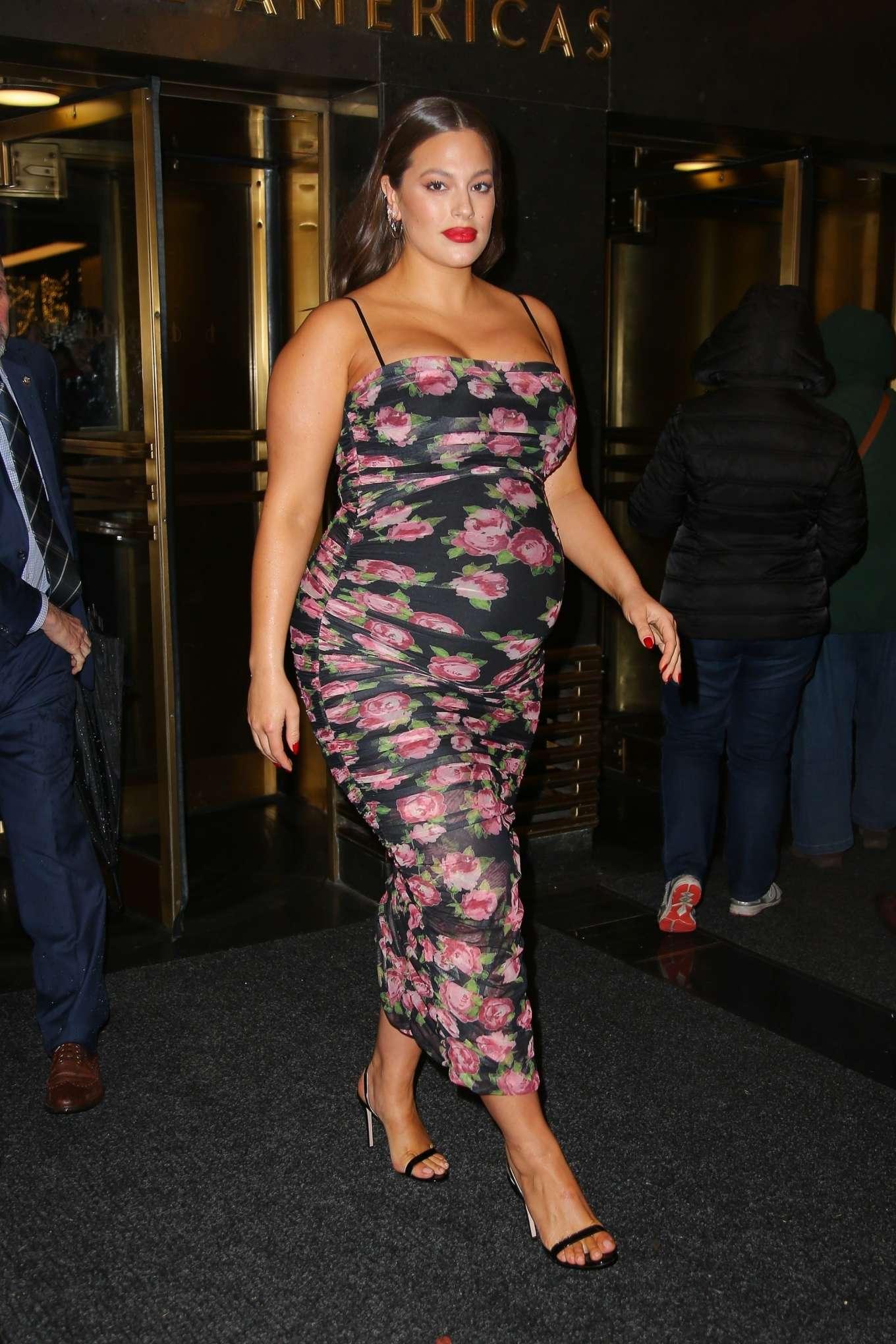 Ashley Graham 2019 : Ashley Graham in Floral Dress-09