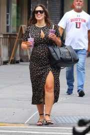 Ashley Graham in Long Dress - Out in NYC