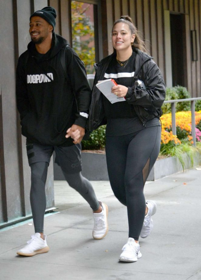 Ashley Graham in Spandex - Working Out in New York